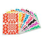 Sachet de 1200 gommettes triangle assorties