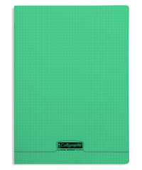 CALLIGRAPHE - CAHIER COUVERTURE POLYPRO A4+ 24X32CM 48 P. 5X5MM VERT