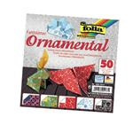 FOLIA POCHETTE 50 FEUILLES ORIGAMI 15X15 CM FANTAISIE ASSORTIES 2 FACES