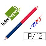 LIDERPAPEL CRAYON BICOLORE POINTE LARGE