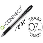 Q-CONNECT - stylo bille - transparent noir tracé 0,4 mm grip caoutchouc