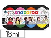 PALETTE DE MAQUILLAGE SNAZAROO JUMBO 18ML COLORIS ASSORTIS (450 VISAGES MAQUILLES)