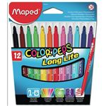 MAPED pochette de 12 - feutres - colorpeps long life