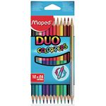 MAPED étui 12 - crayons de couleur - colorpeps bi color