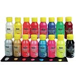 PEBEO PEINTURE ACRYLIQUE ACRYLCOLOR LOT DE 16 FLACONS DE 150 ML COULEURS ASSORTIES