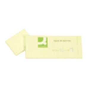 Q-CONNECT - BLOC-NOTES REPOSITIONNABLES 4X5CM 100 FEUILLES 3 BLOCS COLORIS JAUNE