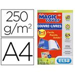 ELBA PACK 5 MAGIC COVER INCOLORE 9/100E JUSQU'AU FORMAT A4