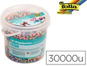 Perles a repasser folia en en 22 couleurs assorties - sachet de 30.000 pieces