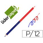 LIDERPAPEL CRAYON BICOLORE POINTE MOYENNE