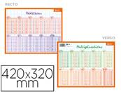 Fiche memo bouchut additions et multiplications support souple recto/verso pellicule 25g 205x265mm