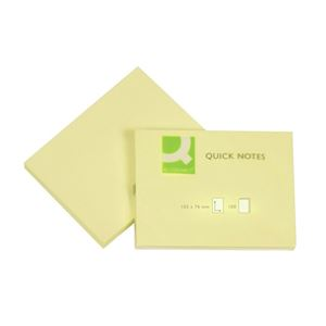 Q-CONNECT - BLOC-NOTES REPOSITIONNABLES 10,2X7,6CM 100 FEUILLES COLORIS JAUNE