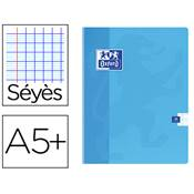 OXFORD CAHIER 17X22 48 PAGES 90G SEYES (grds carreaux) COUV. PELLICULEE LAVABLE PIQUE