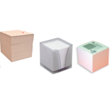 Blocs cubes, notes repositionnables, index