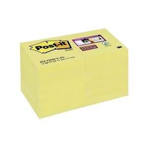 POST-IT - BLOC-NOTES REPOSITIONNABLES ADHESIF RENFORCE 5,1X5,1CM 90 FEUILLES COLORIS JAUNE