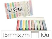 Masking tape oz international art palette crayon dim. 9mmx7m - boite de 10 rouleaux