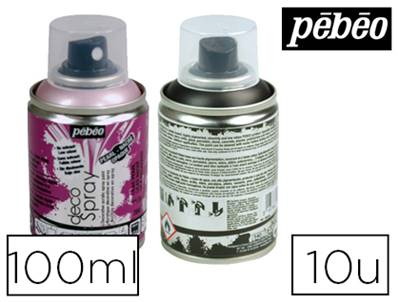 PÉBÉO spray decospray - peinture acrylique - 100ml coloris assortis - set de 10 unités