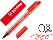 STABILO - stylo feutre - pointmax pointe moyenne en nylon trace 0,8 mm ultra robuste - coloris rouge