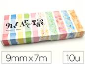 Masking tape oz international art palette aquarelle dim. 9mmx7m - boite de 10 rouleaux