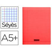 CAHIER PIQUE 17X22 cm 96 PAGES SEYES COUVERTURE POLYPROPYLENE ROUGE