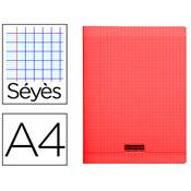 CAHIER PIQUE A4 96 PAGES SEYES COUVERTURE POLYPROPYLENE ROUGE