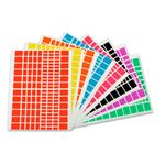 Sachet de 1440 gommettes rectangles assorties