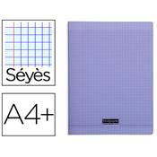 CAHIER PIQUE 24X32 96 PAGES SEYES COUVERTURE POLYPROPYLENE VIOLET