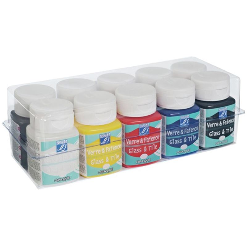 Lefranc bourgeois assortiment de 10 flacons de 50 ml de for Peinture faience