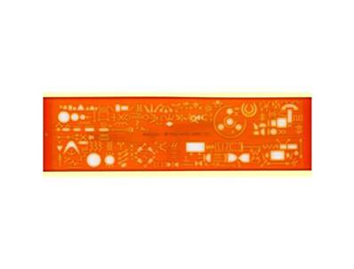 Normographe minerva electrographe sp n.13a en plastique coloris orange