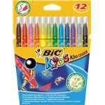 BIC KIDS pochette de 12 - feutres - kid couleur (ultra lavables)