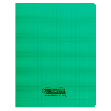 CALLIGRAPHE - CAHIER COUVERTURE POLYPRO A4+ 24X32CM 48 P. SEYES VERT