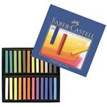 FABER CASTELL boîte de 24 - pastels - carrees tendres (sec) gold faber studio aquarellables