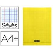 CAHIER PIQUE 24X32 96 PAGES SEYES COUVERTURE POLYPROPYLENE JAUNE