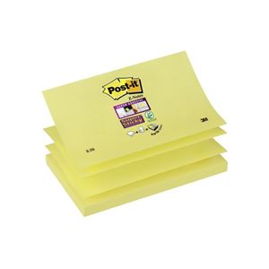 POST-IT - BLOC-NOTES REPOSITIONNABLES ADHESIF RENFORCE Z-NOTES 12,7X7,6CM 90 F. COLORIS JAUNE