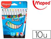 MAPED étui de 10 - feutres - de coloriage brush couleurs vives pointe large