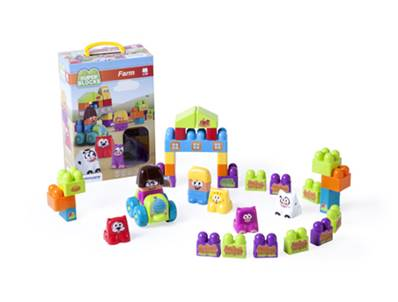 Jeu miniland super blocks farm 38 pieces