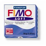 FIMO SOFT BLEU BRILLANT.PAIN 56 GR