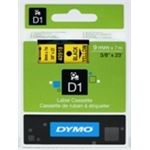 DYMO ruban d1 9 mm x 7 m coloris impression noir/jaune