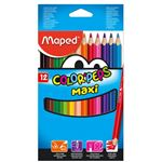 "MAPED pochette de 12 - crayons de couleur - color pep's jumbo ""crayons triangulaires gros modules"""